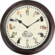 FAL Round Kitchen Childrens Wall Clock with Cat