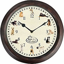 FAL Round Kitchen Childrens Wall Clock with Dog