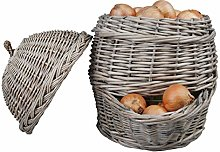 FAL Willow Onion Basket Storage Holder Rustic