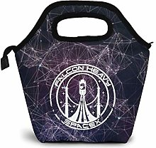 Falcon Heavy Spacex Lunch Bag for Adults and Kids