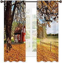 Fall 99% blackout curtain, Quaint Traditional Red