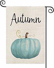 Fall Autumn Watercolor Pumpkin Garden Flag