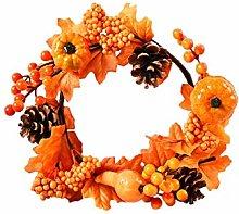 Fall Decorations, Fall Simulation Wreath Garland