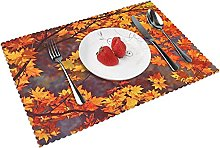 Fall Leaves Hd Table mat 4 piece kitchen placemat