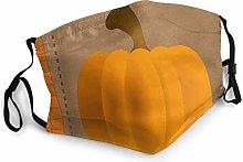 Fall Orange Pumpkin Bandana Face Mask Neck