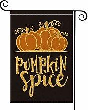 Fall Pumpkin Spice Garden Flag Vertical Seasonal