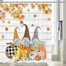 Fall Shower Curtain for Bathroom,Gnomes Buffalo
