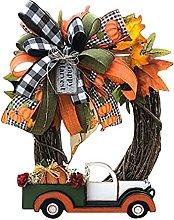 Fall Wreaths for Front Door, Artificial Autumn