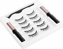 False False Eyelashes Set, Makeup Tool with Magnet
