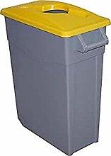 FAMESA Bin with Lid, Yellow, 65 L