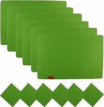 Famibay Felt Placemats and Coasters Set of 6