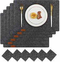 Famibay Felt Table Placemats and Coasters Set of 6