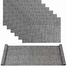 Famibay Grey Placemats and Table Runner Heat
