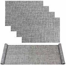 Famibay Grey Table Runner 135CM and Washable