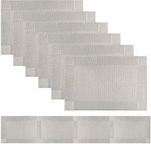 Famibay Grey Table Runners and Place Mats Washable
