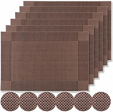 Famibay Placemats and Coasters Sets Heat Resistant