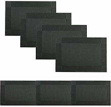 Famibay Placemats and Runner Sets Black Table