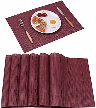 Famibay Placemats Washable PVC Table Place Mats