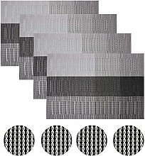 Famibay Placemats With Coasters PVC Weave Place