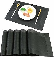 Famibay Plastic Placemats Set of 6 Heat Resistant