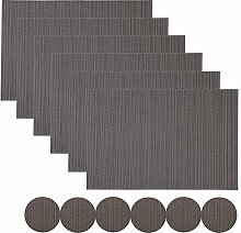 Famibay PVC Placemats and Coasters Set of 6