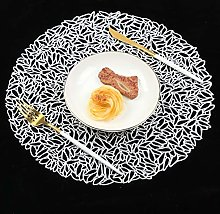 Famibay PVC Placemats Washable Hollow Place Mats