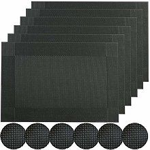 Famibay PVC Placemats with Coasters Set of 6 Heat