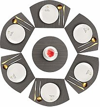 Famibay PVC Wedge Placemats Set of 6 and Table