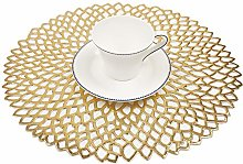 Famibay Round Table Mats Washable PVC Placemats