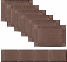 Famibay Table Mats and Runner Washable Vinyl Table