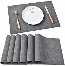 Famibay Vinyl Place Mats Washable Table Mats for