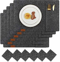 Famibay Washable Placemats and Coasters Cultery