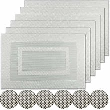 Famibay Washable Table Mats and coasters set of 6