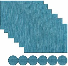 Famibay Washable Table Mats Set of 6 with Coasters