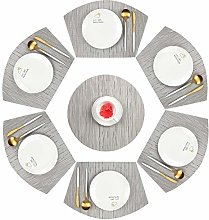 Famibay Wedge Shaped Placemats for Round Table