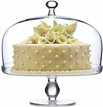 Family gathering Cake Glass Dome, Fruit Dessert