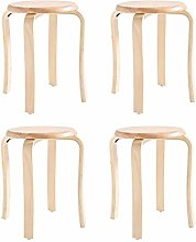 Family Utility Stool 4 Wooden Bench Natural Rubber