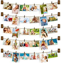 Family wallpaper wall frame with rope rope with 30