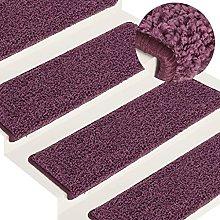 FAMIROSA Carpet Stair Treads 15 pcs 65x25 cm Dark