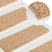 FAMIROSA Carpet Stair Treads 15 pcs 65x25 cm Gold