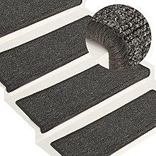 FAMIROSA Carpet Stair Treads 15 pcs 65x25 cm Grey