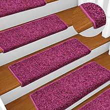 FAMIROSA Carpet Stair Treads 15 pcs 65x25 cm Viole