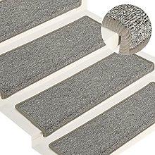 FAMIROSA Carpet Stair Treads 15 pcs 65x25 cm White