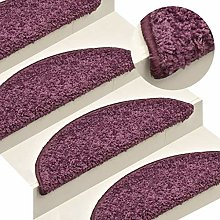 FAMIROSA Carpet Stair Treads 15 pcs Dark Purple