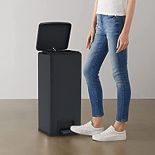 FAMIROSA Dustbin with Pedal Anti-fingerprint 30L