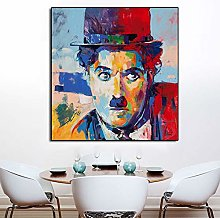 Famous Comedian Portrait Oil Painting People Wall