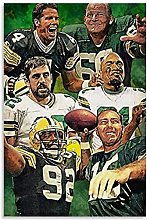 Famous Green Bay Football Legend Player Canvas Art