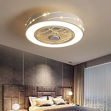 Fan Ceiling Lamp with LED Round Shape Lighting