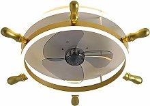 Fan Ceiling Light Modern Simplicity LED RGB 88W 3