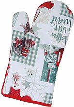 Fancy Me Christmas Snowy Snowflake Oven Mitt Glove